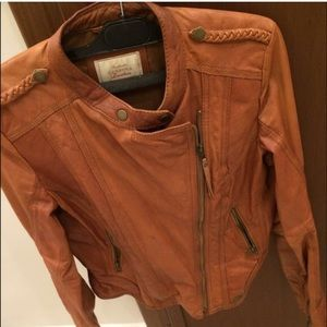 Bershka %100 leather jacket